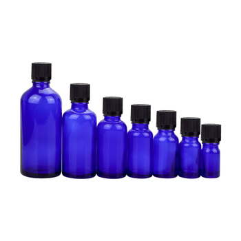 5ml 10ml 15ml 20ml 30ml high quality blue glass essential oil bottle with cap