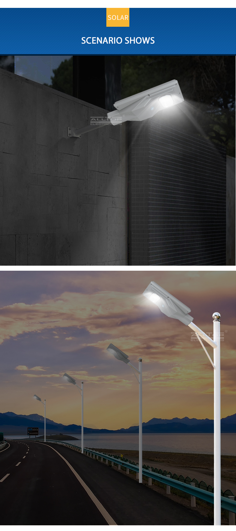 ALLTOP high-quality solar powered parking lot lights functional wholesale-9