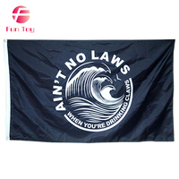 Custom Good Quality White Claw Flag Black Ain't No Law 3x5FT Banner