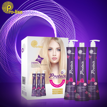 Pro-liss 0.00% Formaldehyde Brazilian Keratin Therapy Blue Violet Protein Straightening Smoothing Hair Treatment Keratin