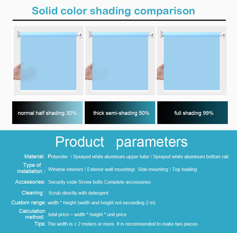 Oil-proof blinds and shades window shades thermal for kitchen