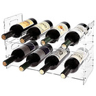 Factory Wholesales Customized Acrylic Stackable Wine Holder Drink Bottle Organizer Display Rack