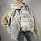Best selling high quality angora jacquard shawls women's woven scarf polyester acrylic mixed