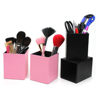 Banfi Fashion Wholesale empty professional lady cosmetic brush case PU makeup brush cup holder
