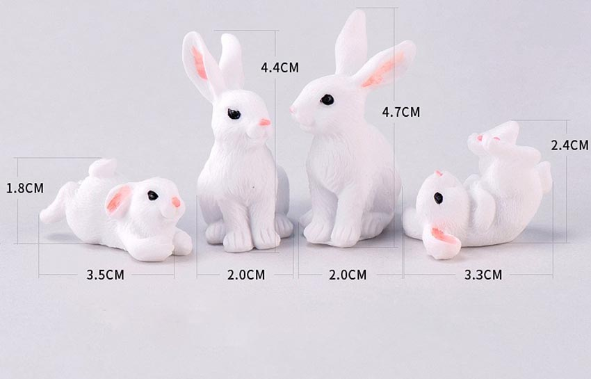 Resin Miniature Terrarium Easter Bunny Figurine Rabbit Garden Decoration