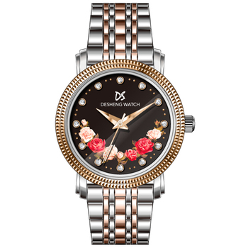 Custom top 10 women watches Japan movement gold fancy watches for women