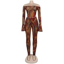 HAOYUAN, сетчатый Леопардовый Камуфляжный комплект из двух предметов, Женская праздничная одежда, сексуальный комбинезон, топ и штаны, комплек...(Китай)