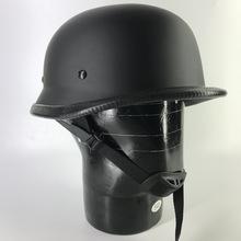 Casco Chopper Estilo Nazi WW2 Negro Mate (L): .mx