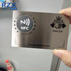 Custom Printing Credit Card Size ISO 14443A 13.56Mhz NFC Metal Card for Payment Application