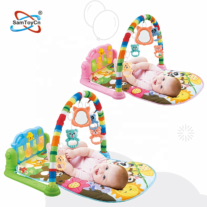 Juguetes Baratos DE China Child Fitness Blanket Baby Play Mat with Pedal Harps