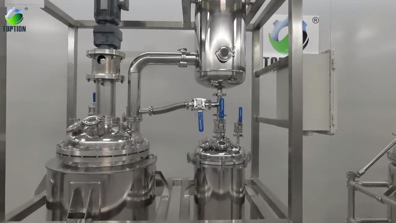 100L Decarboxylation तख्ताबंदीवाला स्टेनलेस स्टील रिएक्टर के साथ कंडेनसर