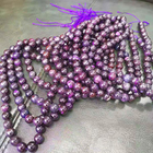 Wholesale Natural Gemstone Smooth Round Semi-Precious Stone Loose Sugilite Beads For Jewelry Making