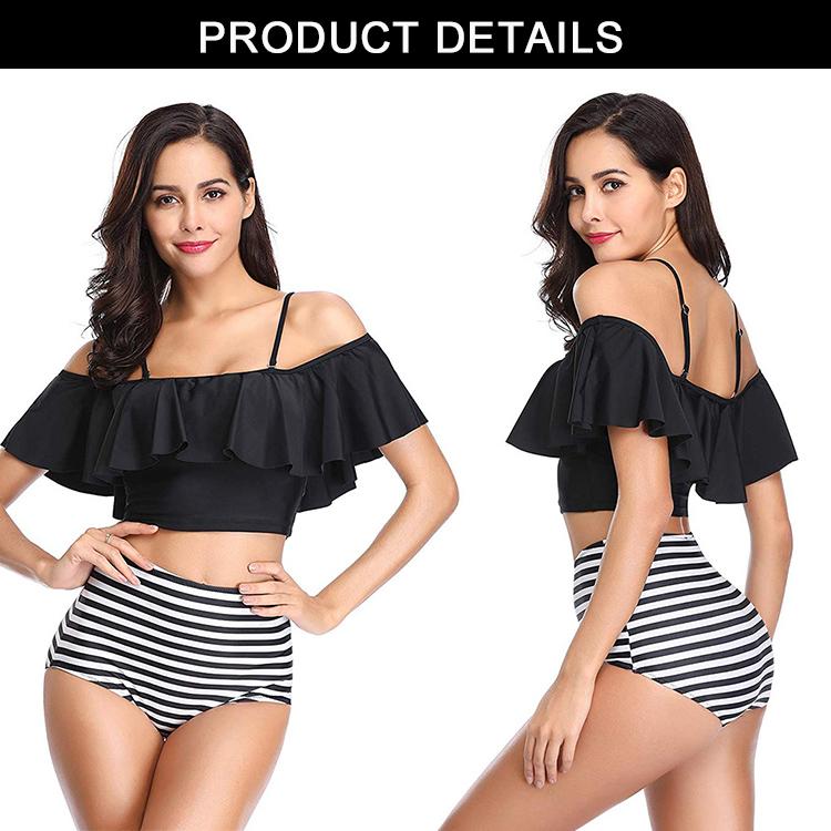 Di marca nuovi costumi da bagno a due pezzi costume da bagno delle donne del bikini costumi da bagno sexy con la cinghia di alta qualità