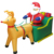 2019 Christmas Display Inflatable Santa Claus Driving Inflatable Reindeer Sleigh