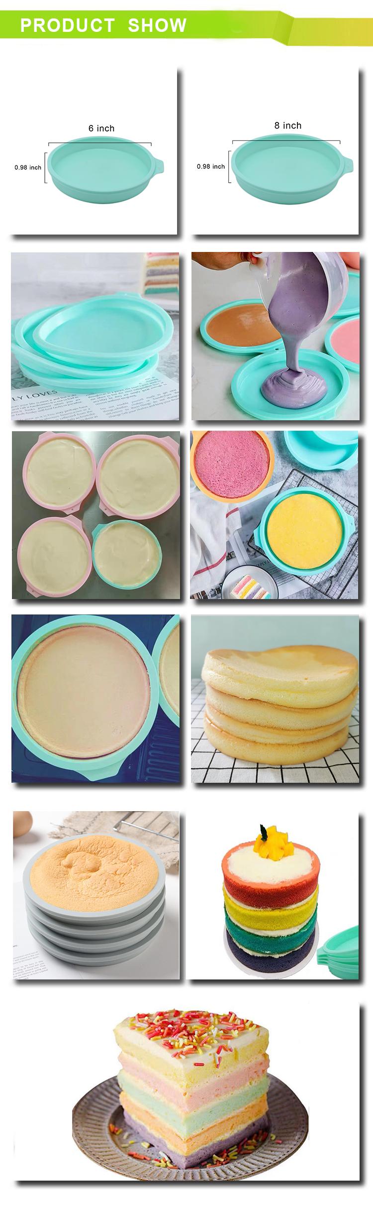 Neu design Wiederverwendbare FDA-Genehmigt Nicht-Stick kuchen geformt pfannen