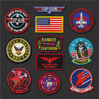 TOP GUN VF-1 pilot custom american military embroidery armband magic stickers morale backpack patches