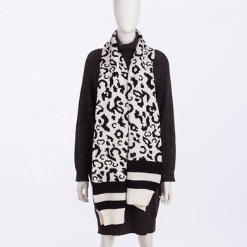 Hot Wholesale Long Print Stole Shawl Long Knitted Leopard Scarf