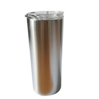 15 OZ Stainless Steel Skinny Tumbler Double Wall Insulated Drinkware with Straw Water Cup with Lid for Drinks