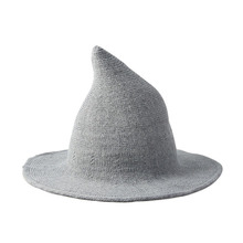 2019 hoge kwaliteit Spiky Heks Hoed Vrouwen Winter Dikke <span class=keywords><strong>wol</strong></span> caps Knit beanie hat