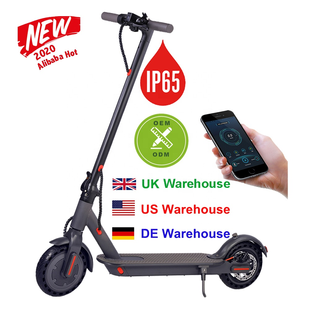 2021 iEZway China Factory New Free Drop Shipping UK EU USA Warehouse Scooter Electric Foldable With 2 Wheels, Dark gray ,white
