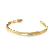 LOZRUNVE 925 Sterling Silver Gold Plated Bezel Cuff <span class=keywords><strong>Vòng</strong></span> <span class=keywords><strong>Tay</strong></span> <span class=keywords><strong>Lắc</strong></span> <span class=keywords><strong>Tay</strong></span>