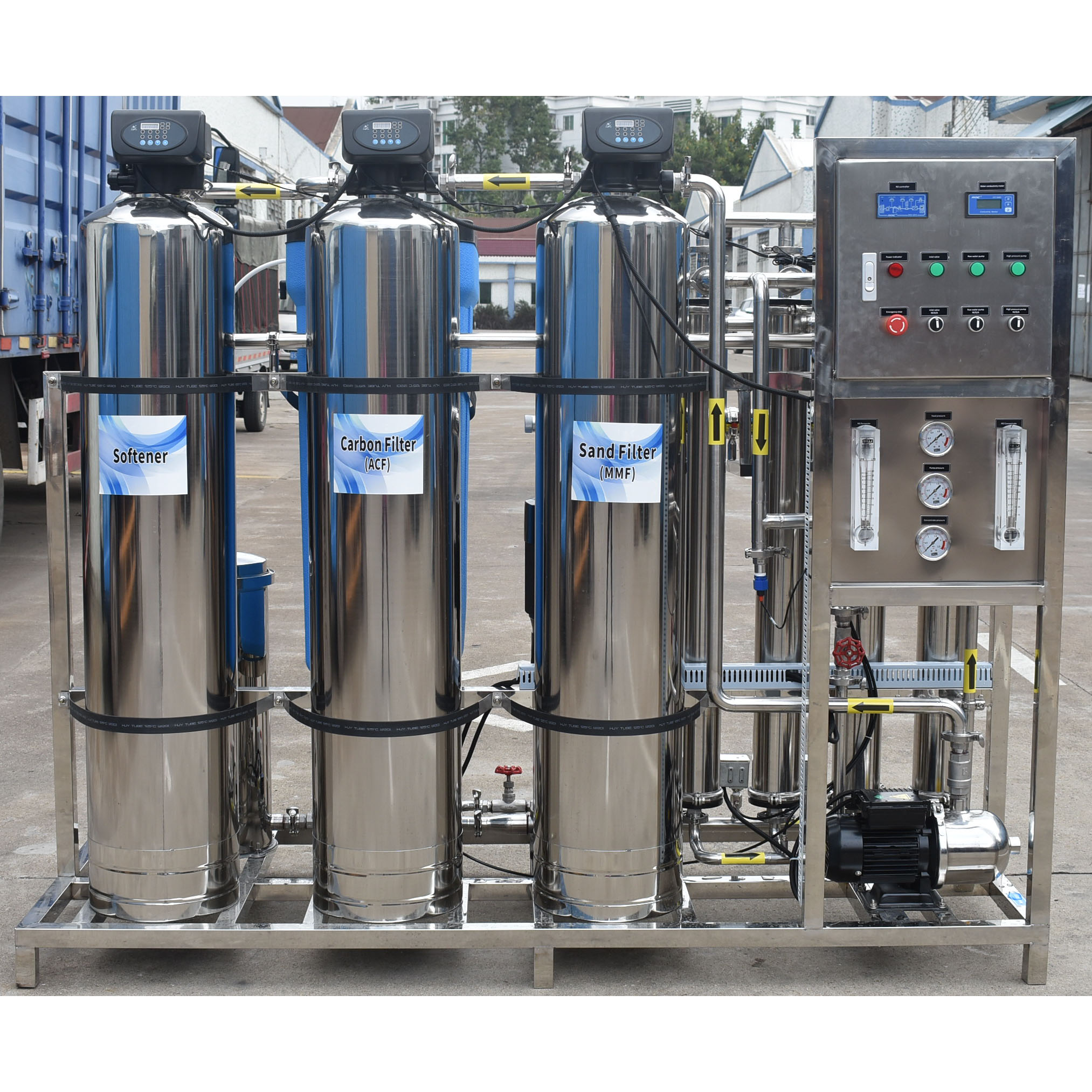 product-500LpH Reverse Osmosis Full stainless steel industrial ro water treatment plant machine for -3