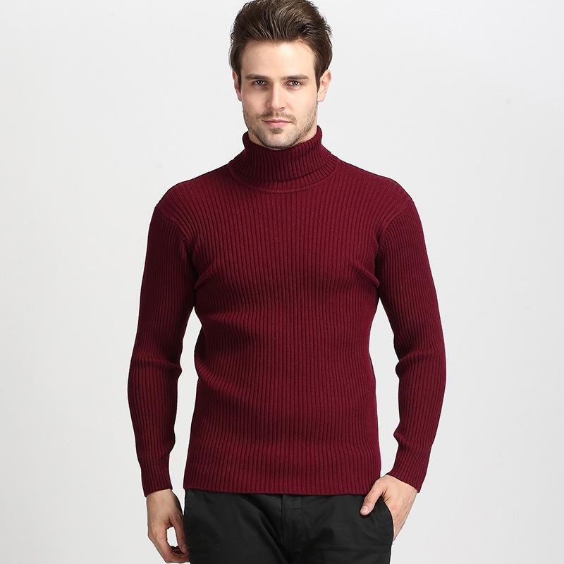 2020 winter mode nach schildkröte hals gestrickte männliche hombre mens herren Rippe pullover stricken pullover für rot