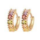 Fashion Latest Design yellow gold plated stone earring