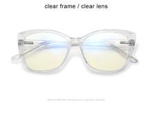 Модные оправа для очков в стиле кошачьи глаза женские анти-синий светильник очки прозрачные компьютерные очки UV400 Винтажные Очки очки для к...(Китай)