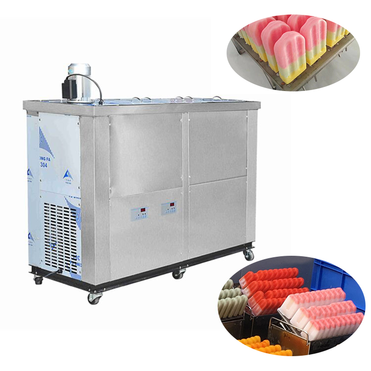Stainless steel semi-auto and automatic pop ice popsicle machine