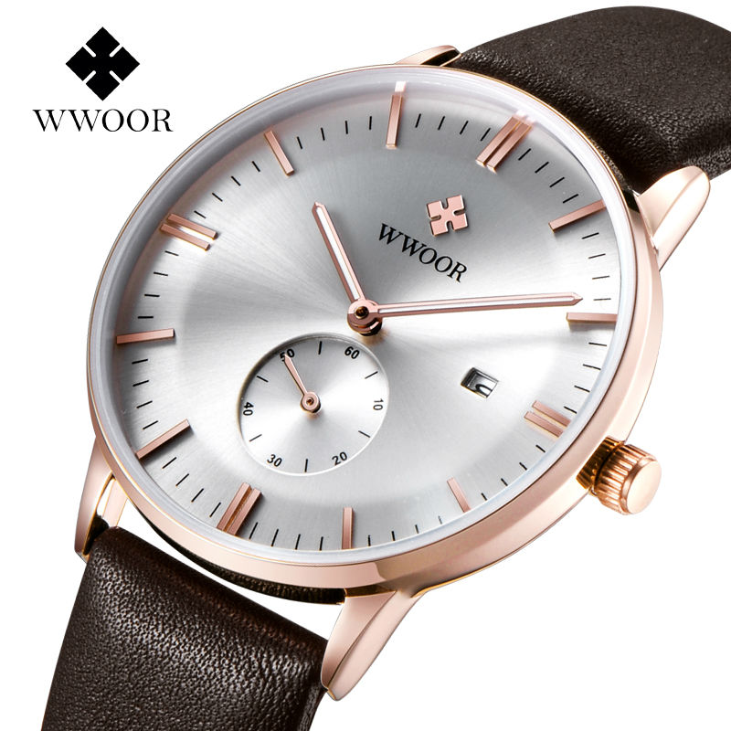 Promotion watch sophisticated fashion timepiece gentleman custom face 30m waterproof leather wrist watch