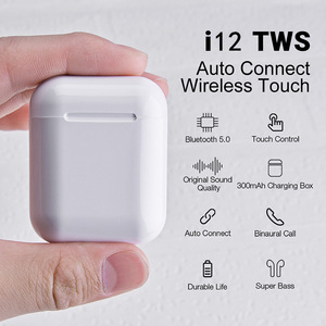 2019 i12s tws audifono Bluetooth 5.0 Touch Sensor Mini Sport i12 tws Wireless Earbuds Earphones