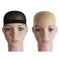 2pcs/pack Breathable Stretch Fabric Stocking Wig Caps for Wearing Wigs