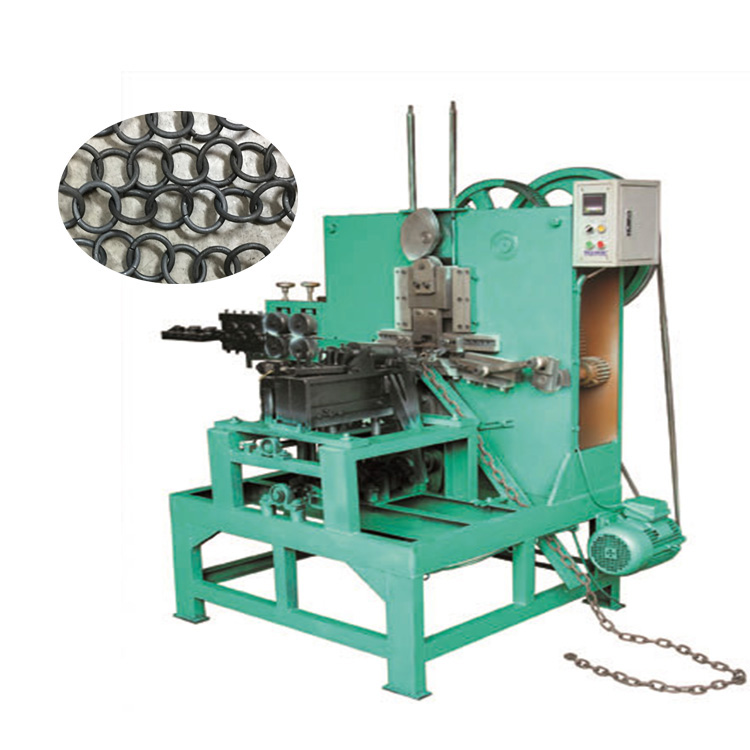 Mechanische draad twist 8 O ring ketting making machine