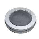 Food Silver Round Window Metal Tin Box With PVC Window