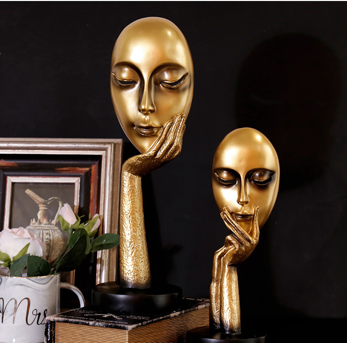 Arts and crafts award boxing trophy color resin statue decor souvenir sculptures handicraft figurines