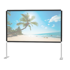 Folding stand projection screen