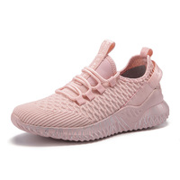 Wholesale 2019 Fly Knit fashion breathable shoes women sports sneakers for unisex