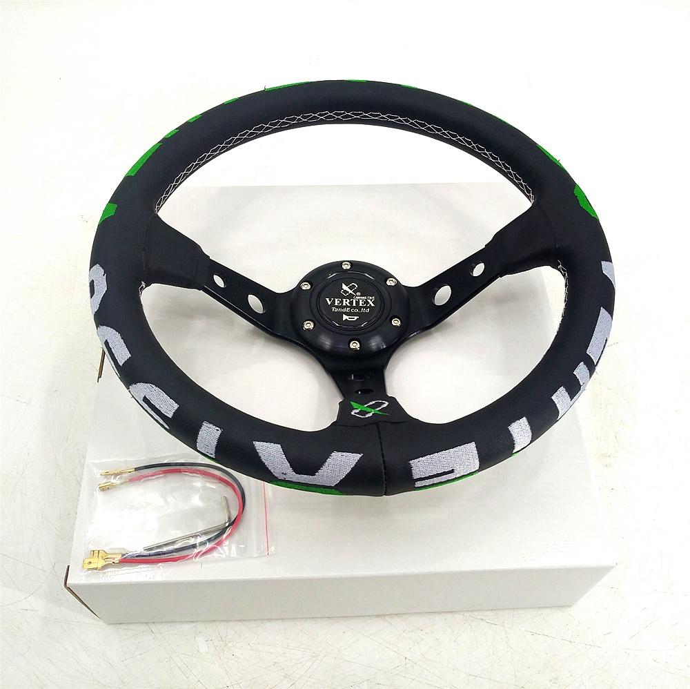 شعار مخصص 350 مللي متر عيار Ultrafiber المواد عجلة توجيه سيارة للأغراض العامة الروسية تعديل