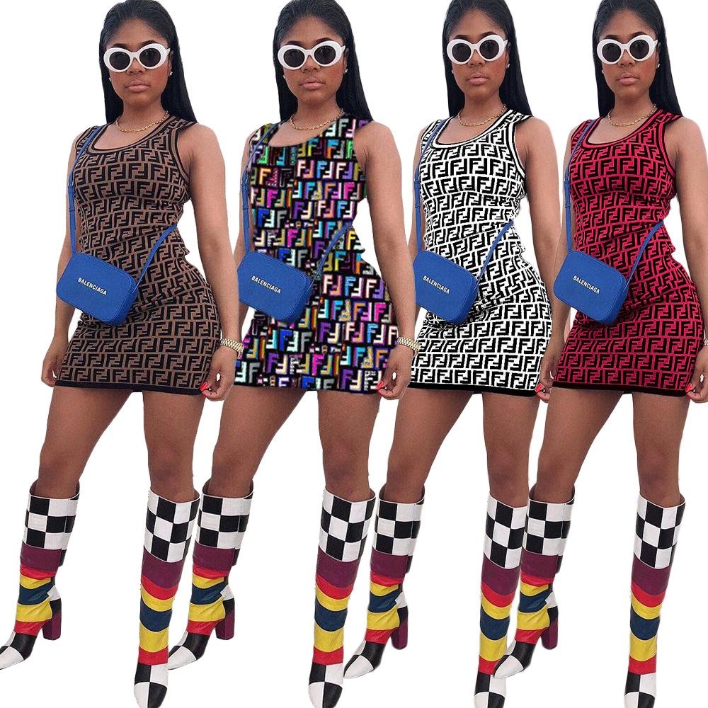 summer midi dress Hot Sale Summer Apparel Digital Print Sleeveless Bodycon Mini Dress for Women Clothing