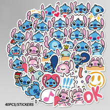 40 шт Мини-классическая тематика «Лило и Стич» наклейки с милыми рисунками Скрапбукинг наклейки для багажа ноутбук игрушка телефон F5(Китай)