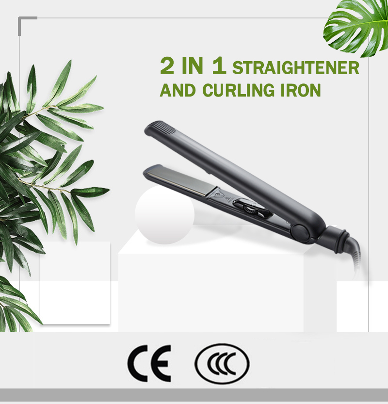 professional LED display hair straightener safety straightening hair ironing board