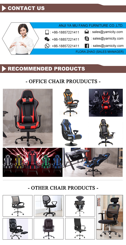 현대 레이싱 컴퓨터 워크 스테이션 화이트 Wcg 게이머 Rgb 발 받침 저렴한 Pc Reclining Playstation 게임 의자