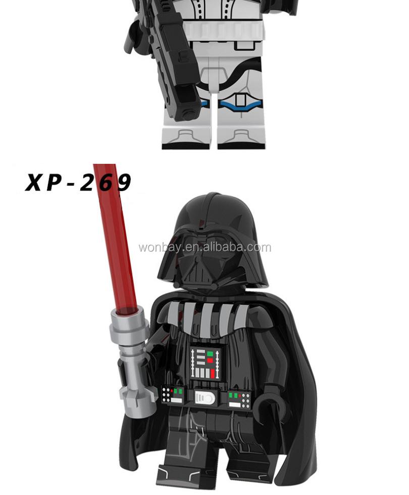 Star Wars conjunto de blocos de construção Darth Vader tijolos modelo castelo brinquedos para crianças