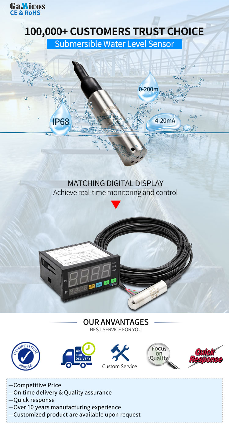 GLT500 Submersible Analog Water Level Sensor