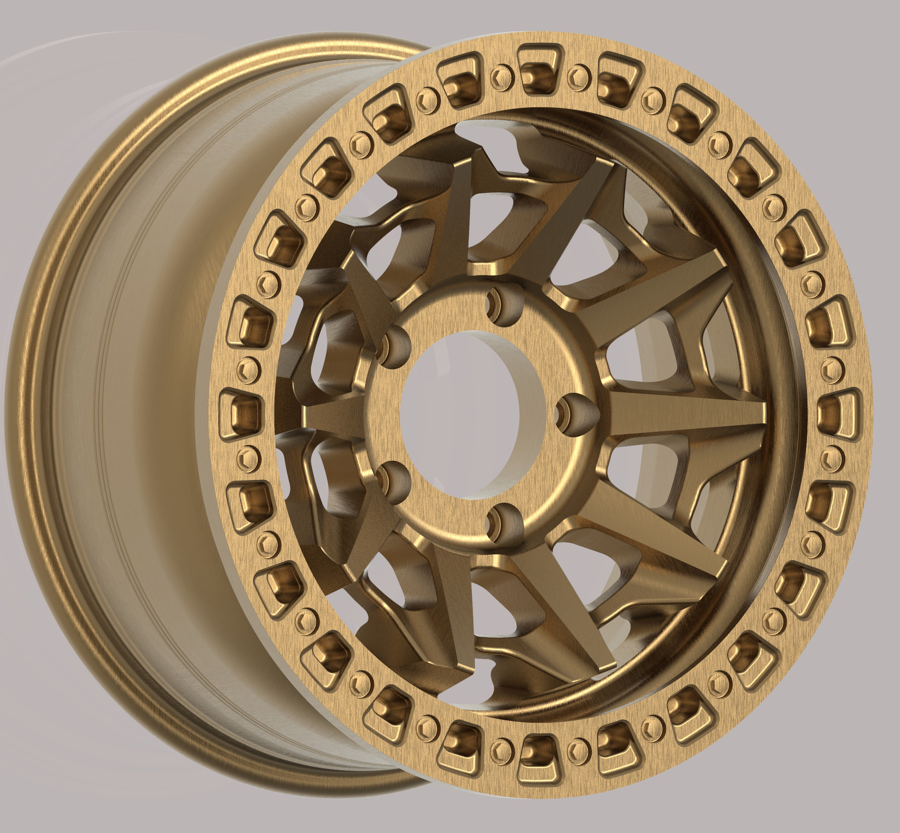 Bead lock off-road wheels 4X4 truck car wheels heavy duty with big load rate 18X9 alloy wheel rim