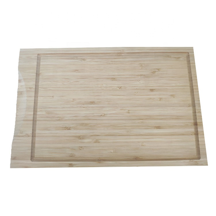 Organic Bamboo Kitchen Cutting Board With Juice Groove For Cutting Meat