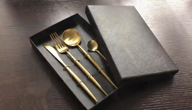 Inox 18/10 Морден серебряные кованые столовые приборы набор, типы гостиничных столовых приборов 24 шт столовая посуда