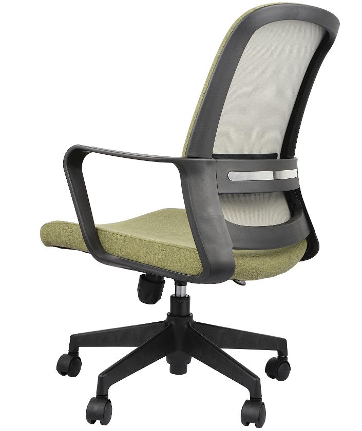 Midden terug executive office computer groene stof stoelen groothandel algemene moderne groene kantoor fauteuil stoel met nylon katrol