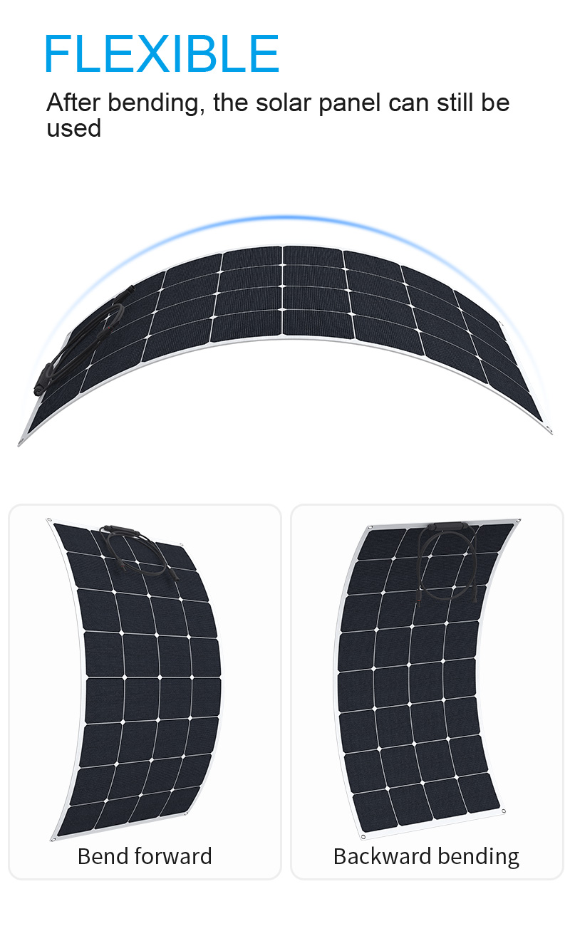First Grade Quality 100W Sunpower High Efficiency Flexible Solar Panel
